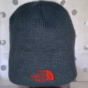 Slate colored North Face Winter Hat